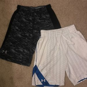 2 under armor shorts men's